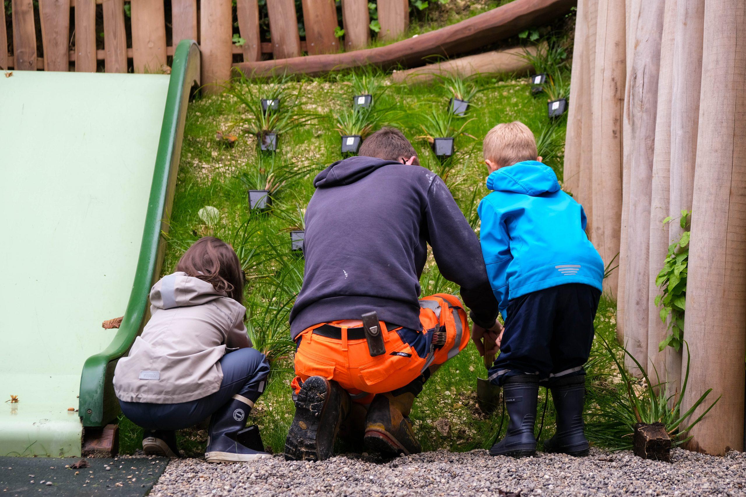 Pflanzaktion Kindergarten Pfeffingen